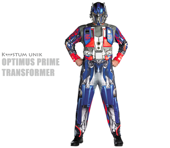 sewa kostum, transformer, optimus prime, superhero