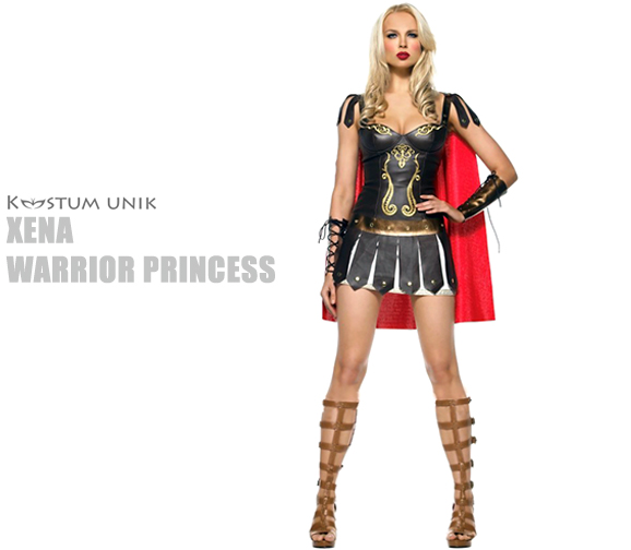 sewa kostum Xena warrior princess